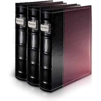 Bellagio-Italia DVD Storage Binder - 3 Pack Burgundy (B003TUANOG)