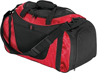 Port & Company luggage-and-bags Improved Two Tone Small Duffel OSFA Red/Black