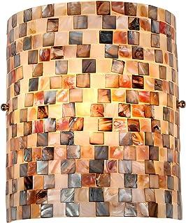 Chloe Lighting CH3CD28BC08-WS1 Shelley Mosaic 1-Light Wall Sconce, 9.8 x 8.3 x 4.1 , Black