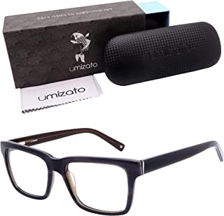 Umizato Blue Blocker Glasses Men Women - Designed for Eye Strain Sensitivity, Headaches, Retro Handcrafted Blue Light Blocking for Computer Gaming, Prescription Grade, UV Filter (Brighton in Smoke)