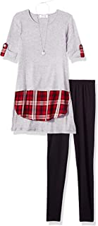 Girls' Big Hangdown Tunic and Legging 2-Piece Clothing Set Outfit