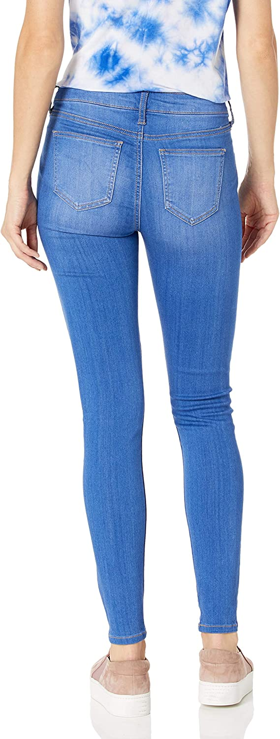 Amazon Com Pantalon De Celebrity Pink Jeans Pantalon De Mezclilla Para Mujer A Media Cintura Corte Skinny Con Tela Elastica Clothing