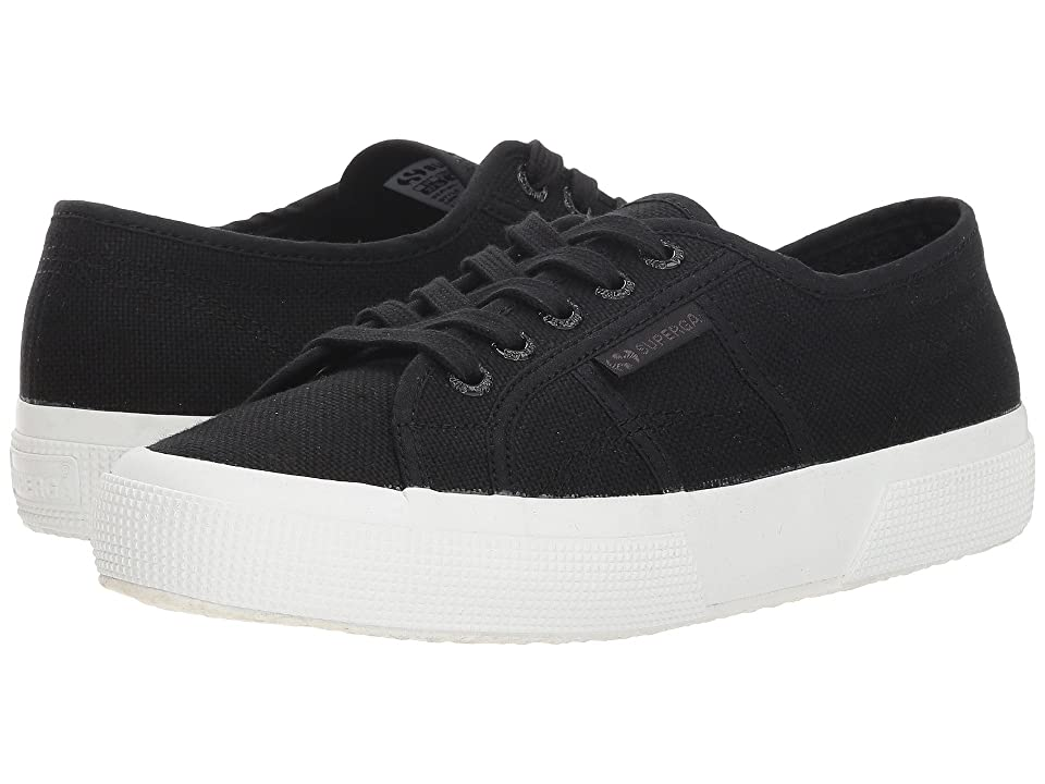 Superga 2750 Cotu (Black/Full White) Athletic Shoes