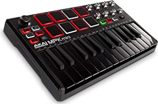 AKAI Professional USB MIDIキーボードコントローラー 8パッド MPK Mini MK2 ブラック【数量限定】