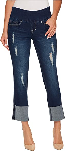 Jag Jeans Lewis Pull-On Straight Cuffed Butter Denim in Cosmos