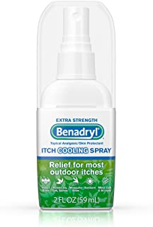 Benadryl Extra Strength Anti-Itch Cooling Spray, Topical Analgesic and Skin Protectant for Relief from Most Outdoor Itches...