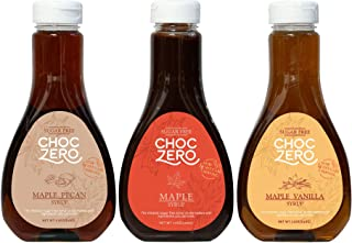 Honest Syrup, Maple Syrup Collection. Sugar free, Low Carb, No preservatives. Thick and Rich. Sugar Alcohol free, Gluten Free. Pancake and Waffle topping. 3 Bottles(3X12oz)