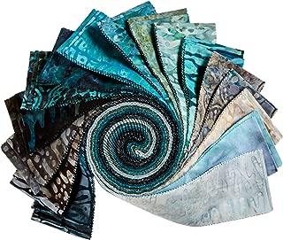 Robert Kaufman Kaufman Artisian Batiks: Natures Textures 2.5'' Roll Ups 40 Pcs Rain