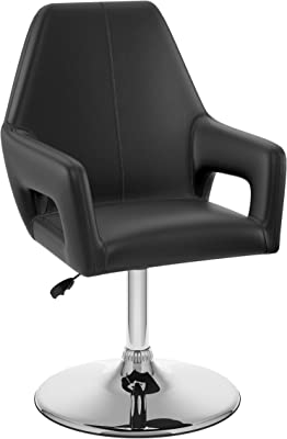 CorLiving Abrosia Adjustable Leatherette Executive Chair, Black