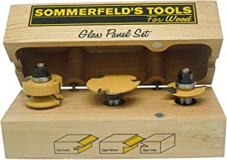 Sommerfeld's 3 Piece Glass Panel Door Set, 1/2-Inch Shank