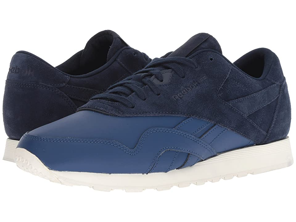 5ab308db12d Reebok Lifestyle Classic Nylon AS (Washed Blue Collegiate Navy Chalk) Men s  Classic Shoes