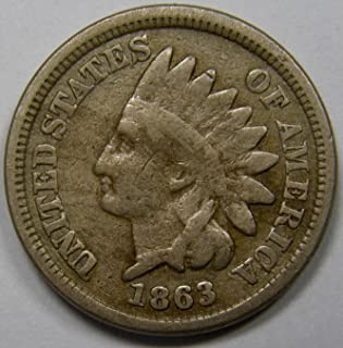 1863 U.S. Indian Head Copper-Nickel Cent / Penny Circulated