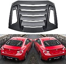 E-cowlboy Rear Window Louver for Subaru BRZ 2012-2018/ Scion FR-S/Toyota GT86 Sun Shade Cover in GT Lambo Style Matte Black