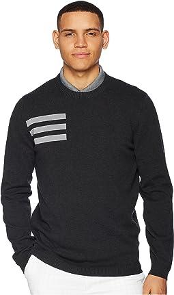adidas Golf 3-Stripes Crew Neck Sweater