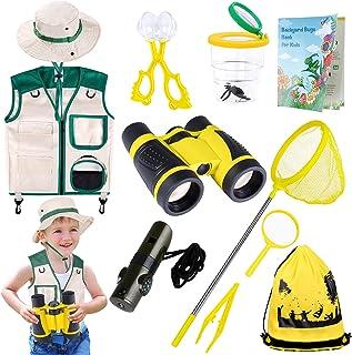 INNOCHEER Explorer Kit & Bug Catcher Kit for Kids Outdoor Exploration with Vest, Binocular, Magnifying Glass, Hand-Crank F...