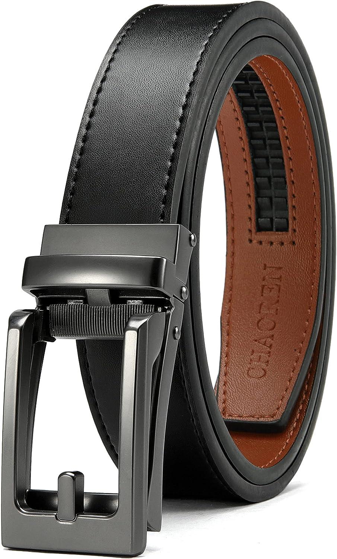 Kids Belts for Boys, Chaoren Leather Ratchet Belt 1.25