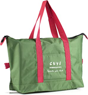 CNYE Foldable Travel Bag Resistant Travel Duffle Tote Bags with Lining Portable Washable Workout Duffel Bag