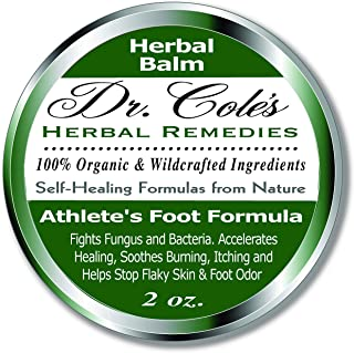 Dr. Cole's Organic Athlete's Foot Treatment – Extra Strength, Natural, Anti-fungal Herbal Remedy Ointment That Kills Fungu...