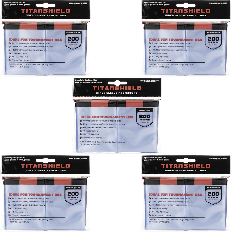 TitanShield 5 Packs of 200s Total Sleeve P New life Inner 1000 Sleeves 2021 new