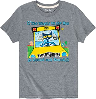 Pete the Cat Wheels On The Bus Multi - Toddler Short Sleeve Tee