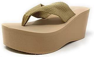 Womens Heat High Platform Wedge Flip Flop Sandals
