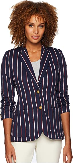 Striped Jacquard Blazer