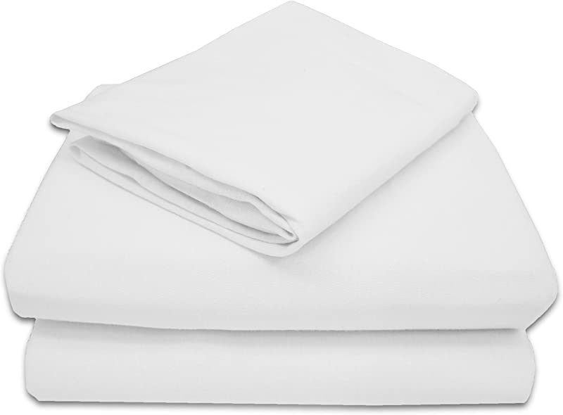 American Baby Company 100 Natural Cotton Jersey Knit Toddler Sheet Set White Soft Breathable For Boys And Girls