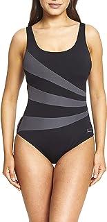 Zoggs Women's Sandon Scoopback Swimming Costume, Foam Cups and Tummy Control Swimsuit