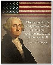 Gabby's Choice George Washington quote Art print - 11 x 14 Unframed Wall Art Print