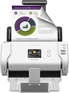 Brother Wireless High-Speed Desktop Document Scanner, ADS-2700W, Touchscreen LCD, Duplex Scanning
