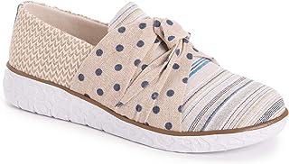 MUK LUKS Women's Boardwalk Stepping Out Sneaker Loafer