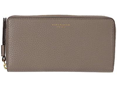 Tory Burch Perry Zip Continental Wallet (Gray Heron) Handbags