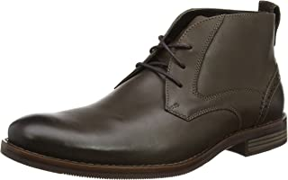 ROCKPORT Men's Wynstin Chukka Boots, Brown (Dark Brown), 8 AU