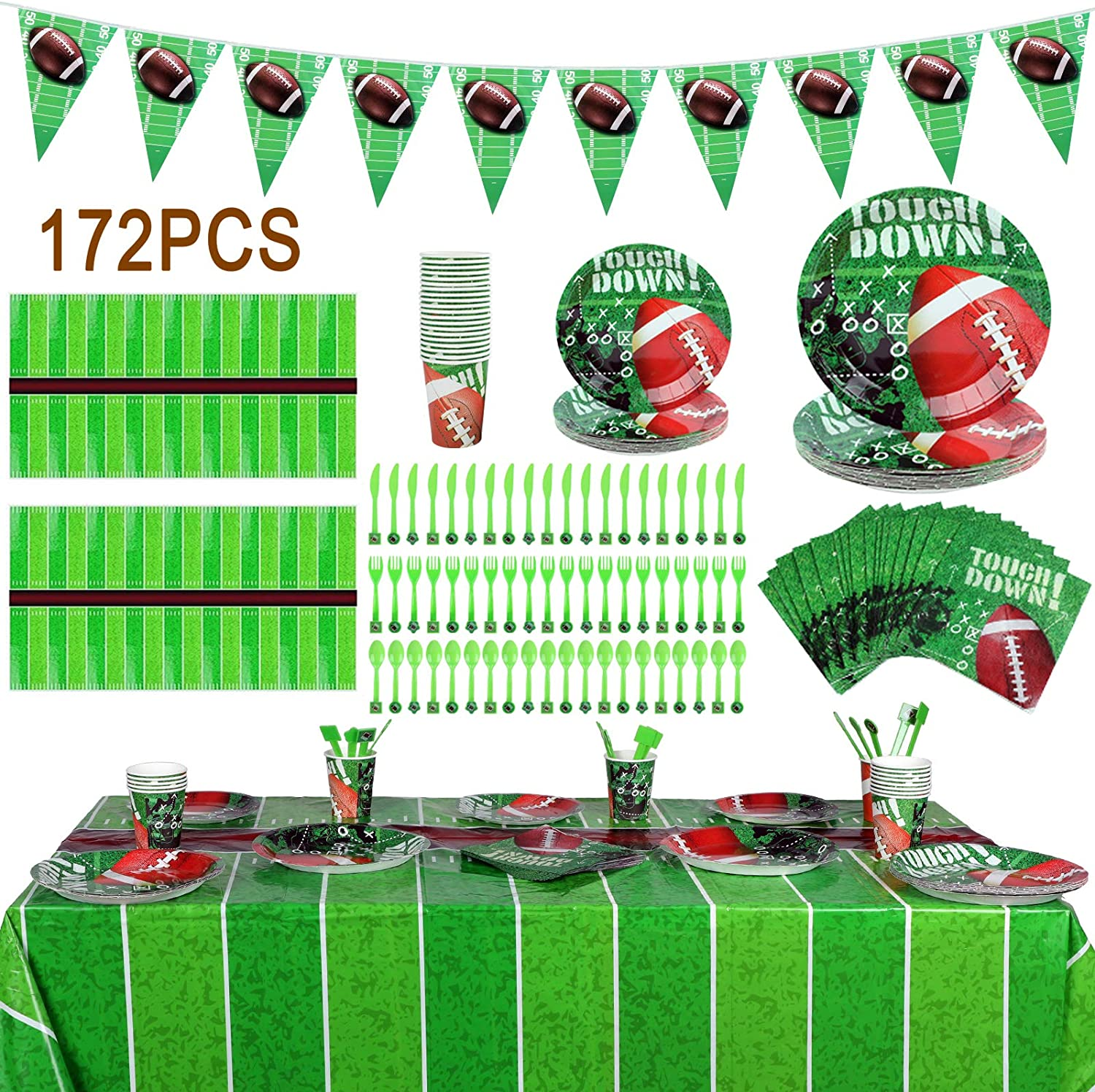 Our shop OFFers the best service Sunnyholiday 172PCS Football Purchase Theme Set Party Supplies Decoration