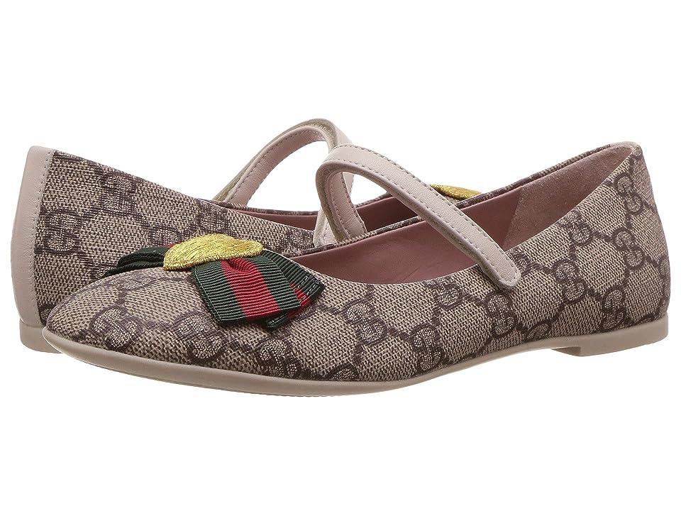 a4a188bf1 Gucci Kids Erin Ballerina (Little Kid) (Beige) Girls Shoes