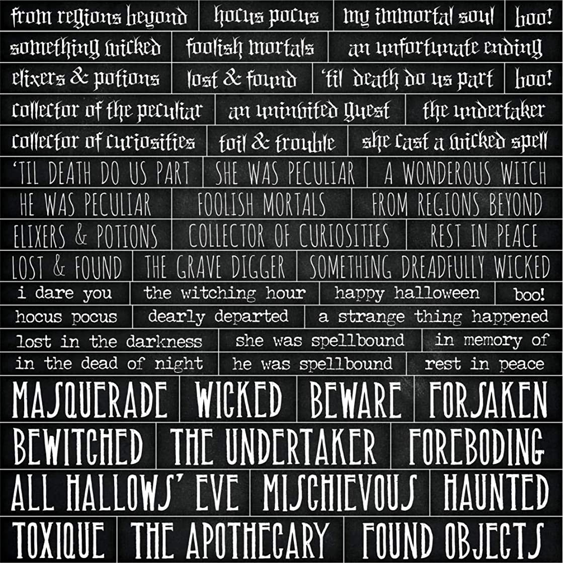 Tim Holtz Idea-ology Halloween Quote Chips