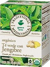 Traditional Medicinals Té verde orgánico con Jengibre,