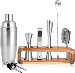 LAST CALL Barware Modern 9 piece Bartender Kit | 100%...
