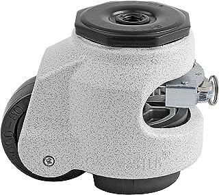 "FOOTMASTER GDR-80S-1/2 Nylon Wheel en NBR Pad Ratcheting Leveling Caster, 1100 lbs, Stem Gemonteerd met 0.5"" Montagegat Di..."