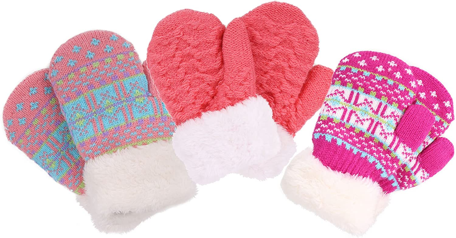 Toddler Mittens Colorado Springs Mall Warm Age Knitted Girls Albuquerque Mall