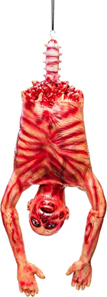 Halloween Haunters Life Size Hanging Skinned Human Zombie Ghoul Torso With Bloody Muscles Guts Prop Decoration Thick Rubber Latex Scary Mangled Dead Man Mummy Horror Body