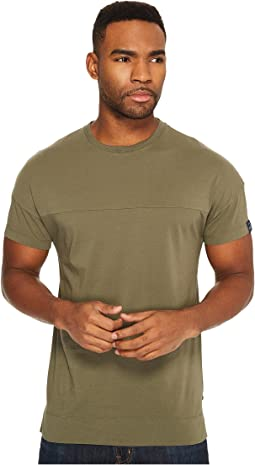 Scotch & Soda - Garment Dyed Crew Neck Tee with Dropped Shoulder