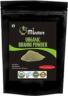 Organic Brahmi Bacopa Monnieri Powder - 1 lb ozĬ gm USDA, Ayurvedic Herb Hair Growth and Brain Function, Resealable Pouc...
