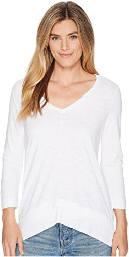 Lilla P - Rib Bottom V-Neck