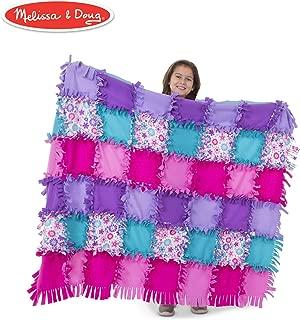 Melissa & Doug Created by Me! Flower Fleece Quilt (Arts & Crafts, No-Sew Fleece Quilt, Soft Material, 48-Pieces, 5′W × 4′L) (Renewed)