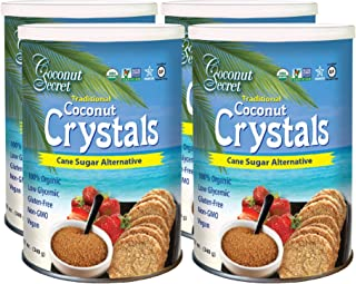 Coconut Secret Coconut Crystals (4 Pack) - 12 oz - Low-Glycemic Sugar Alternative, Replacement Sweetener - Organic, Vegan,...