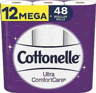Cottonelle Ultra Comfortcare Soft Toilet Paper, 12 Mega Rolls Bathroom Tissue (Equals 48 Regular Rolls)