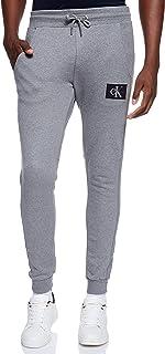 سروال للرجال محاك، ذو رقعة تحمل الاحرف الاولى للعلامة التجارية، اتش دبليو كيه، من كالفن كلاين