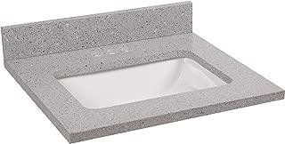 Design House 555632 Quartz Single Bowl Vanity Top 37x22, Flint