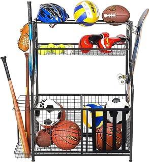 PLKOW Sports Equipment Storage for Garage, Indoor/Outdoor Sports Rack for Garage, Ball Storage...